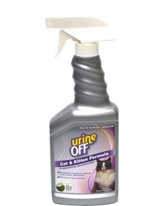 Urine Off Cat Spray. Effektiv rengöring mot urin på hårda ytor.