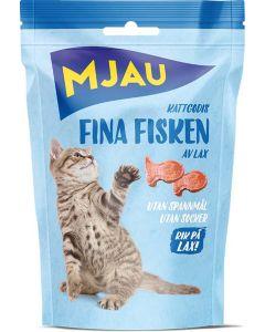 Mjau Fina Fisken Lax 35g. Naturligt kattgodis av lax.