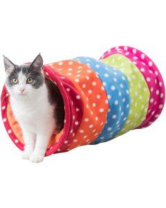 Mjuk färgglad katt tunnel med prassel