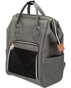 Trixie Ryggsäck/Väska Ava Grå. Stabil väska som kan fätas på en trolley.