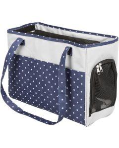 Trixie Transportväska Bonny. Prickig väska med nättak för små husdjur.