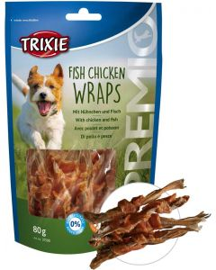 Välsmakande hundgodis av kyckling och fisk