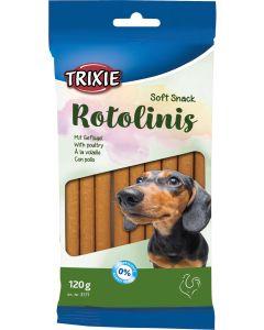 Soft Snack Rotolinis Poultry. Mjuka stix med smak av fågel.