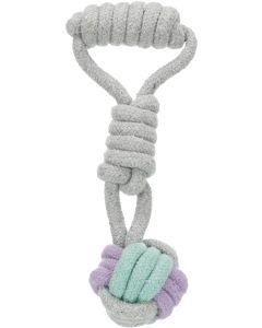 Trixie Jr Repboll med handtag. Tuggvänlig boll av hållbart bomullsrep.