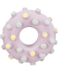 Trixie Mini Ring Latex. Ljudlös och tuggvänlig valpleksak.