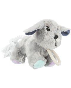 Trixie Jr Hund med rep 24cm. Mjuk leksakshund med repdetaljer.