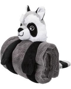 Trixie Cuddly Set Tvättbjörn. Set med gosig filt och mjukisdjur för hund.
