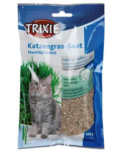 Färdigblandat och lättodlat gräs för katter