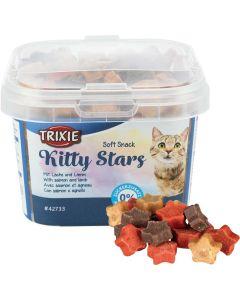 Mjuka kattgodis stjärnor med smak av lax och lamm