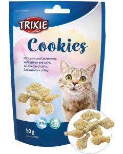 Trixie Cookies Salmon Catnip. Kattkex med lax och kattmynta.