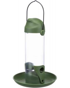 Trixie Fågelmatare Grön 500ml. Diskret frödispenser med öppningsbart lock.