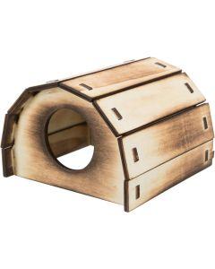 Trixie Trähus Mikkel 13 cm. Fint hus i flamberad trä för hamster.