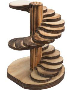 Trixie Spiraltrappa 14cm. Dekorativ spiraltrappa i flamberad trä.