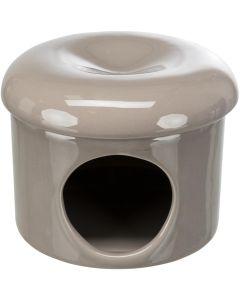 Trixie Keramikhus 1-hål Brun. Hamsterhus som svalkar varma dagar.
