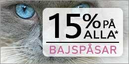 15% rabatt på alla bajspåsar