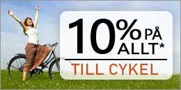 10% på alla cykeltillbehör