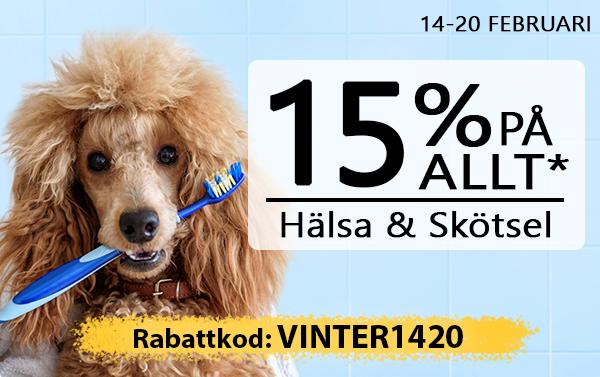 15% Hälsa & Skötsel, Pälsvård, Sjukvård & Apotek