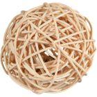 Flätad boll av torkad pil med bjällra