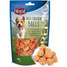 Läckra ris och kycklingbollar till hund