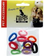 HPP UK Limited Cotton Band 10p. Mjuka hårsnoddar i mixade färger.