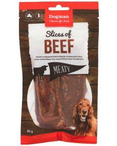 Naturligt hundgodis torkat oxkött
