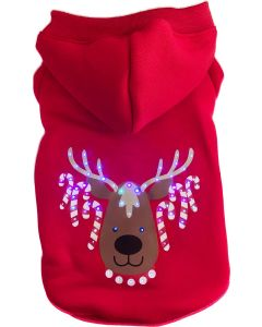 Christmas Flashing Dog Sweater. Fin jultröja med dekorativt LED ljus.