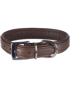 Trixie Halsband Comfort Brun. Mjukt läderhalsband med vaddering.