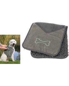 Trixie. Torkduk med handfickor. Hög absorberande torkduk tilll hund.