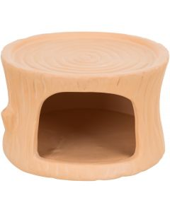 Trixie. Keramikhus Terrakotta Stubbe. Smådjurshus tillverkad av keramik.