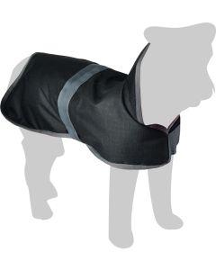 Flamingo. Vintertäcke Gillian Svart. Varmt hundtäcke med ventilerande foder.