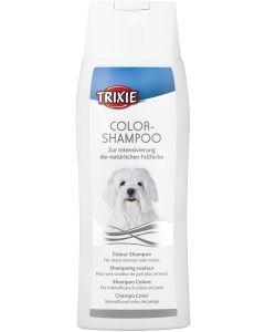 Shampoo med färgåtergivning till vita pälsar