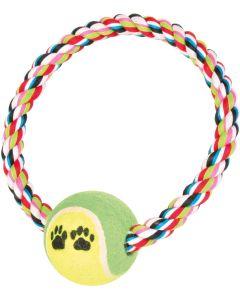 Bitvänlig flossleksak med tennisboll