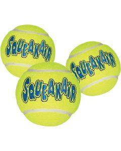 Små tennisbollar med pipljud för hund