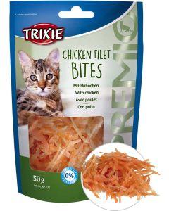 Socker- och glutenfritt kattgodis av kycklingfilé