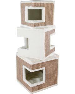 Stilrent höghus för katter med klös