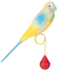 Balanstyngd håller fågeln upprätt och lätt gungande.