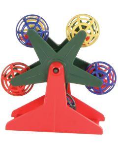Snurrande pariserhjul med bollar