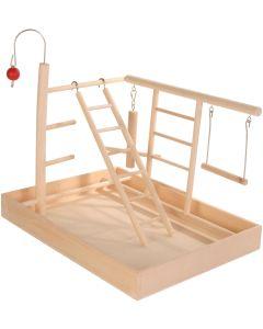 Lekställning med trapets och balansgång