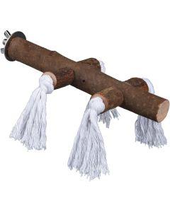 Sittpinne av naturligt trä med bomullsrep