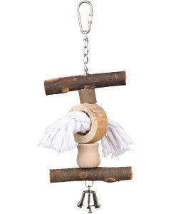 Fågelleksak med bjällra och lekrep