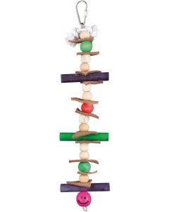 Lång färgglad leksak med träkulor