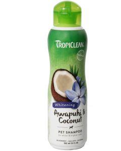 Skonsamt shampoo för vita pälsar