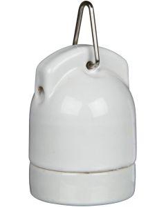 Värmebeständig keramiksockel med sladd