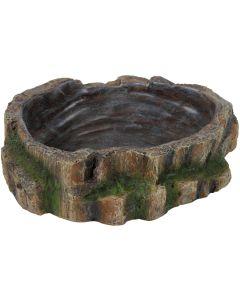 Fin mat och vattenskål med naturligt utseende