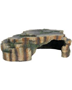 Reptilgrotta med plattform på taket