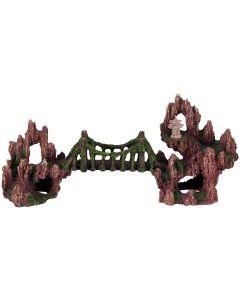 Fin och detaljrik bro med flera grottor