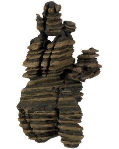 Skiktad klippa för en mysig akvariemiljö