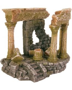 Detaljrik akvariedekoration romerska ruiner