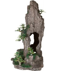 Stenklippa med naturtrogna växter