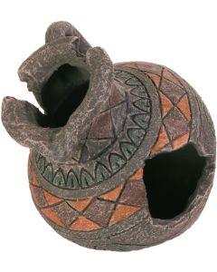 Detaljrik akvariedekoration antik urna